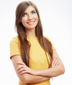 Casual style woman portrait . — Stock Photo