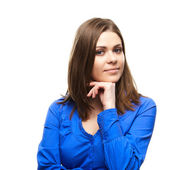 Ung student tjej — Stockfoto