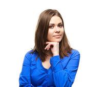 年轻的学生女孩 — 图库照片