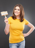 Woman with brush — Stock Photo