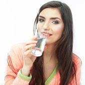 Kadın içme suyu — Stok fotoğraf