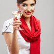 Woman with cocktail glass — Stock Photo #34523391