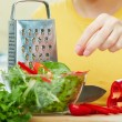 Woman hands cooking healthy food — Stock Photo