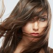 Woman with hair motion — Foto Stock