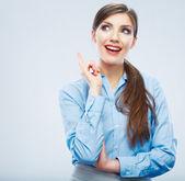 Business woman portrait. idea — Stock Photo