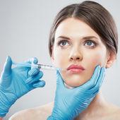 Kobieta i chirurgii — Zdjęcie stockowe