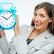 Business woman with time concept — Stok fotoğraf