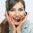 Portrait of customer service worker — Stock Photo