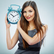 Business woman with time concept — Lizenzfreies Foto
