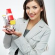 Stock Photo: Business womwith selling concept