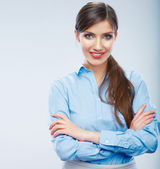 Business woman portrait, crossed arms. — Stock Photo