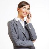 Biznes kobieta rozmowy na telefon — Zdjęcie stockowe