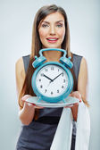 Business woman with time concept — Foto de Stock