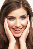 Female beautiful face — Stock Photo