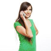 Portrait of woman using phone — Stock Photo