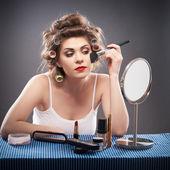 女人的美丽风格人像 — 图库照片