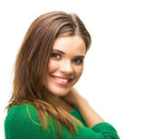Close up portrait of young woman — Stock Photo