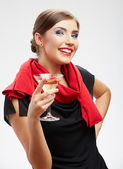 Woman with cocktail glass — Stock Photo