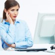Business woman working at office. Young female model — Stock Photo #34542795