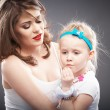Girl and mother — Stock Photo