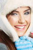 Close up girl face — Stock Photo