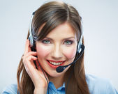 Call center operator — Stock Photo