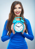 Woman and watch — Stock Photo