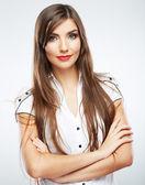 Business woman studio portrait. — Stock Photo