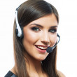 Woman customer service worker — Stock Photo #36363589