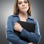 Female bank employee — Stock Photo