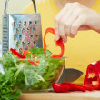 Hands cooking food — Stockfoto
