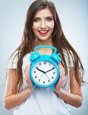 Woman hold watch — Stock Photo