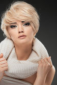 Woman portrait with blonde hair — Stock Photo