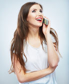 Woman with phone — Stock Photo