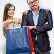 Couple shopping portrait — Stock Photo