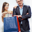 Couple shopping portrait — Stock Photo #36395375