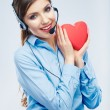 woman call center operator — Stock Photo