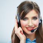 Woman call center operator — Stock Photo #36397015