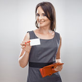 Business woman hold credit — Stock Photo