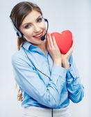женщина оператора call-центра — Стоковое фото
