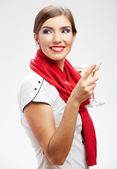 Happy woman with glass — Stock Photo