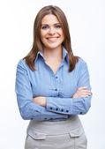 Uśmiechnięta kobieta biznesu — Zdjęcie stockowe