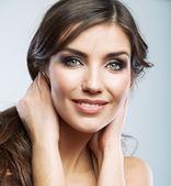 Woman face close up beauty portrait — Stock Photo