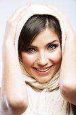 Woman face close up portrait — Stock Photo