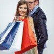 Couple shopping portrait — Lizenzfreies Foto