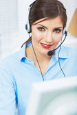 Female customer service worker — Stock Photo
