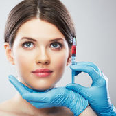 Woman and surgery — Stock Photo