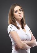 Young woman casual style — Stock Photo