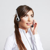 Female customer service worker — Stock Photo