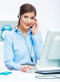 女性顧客サービス職業従事者 — ストック写真